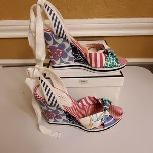 Coach Tammie Signature Patchwork Wedge Sandal